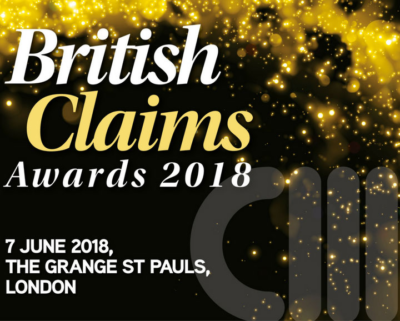 Club Insure are shortlisted for 2018 British Claim Awards