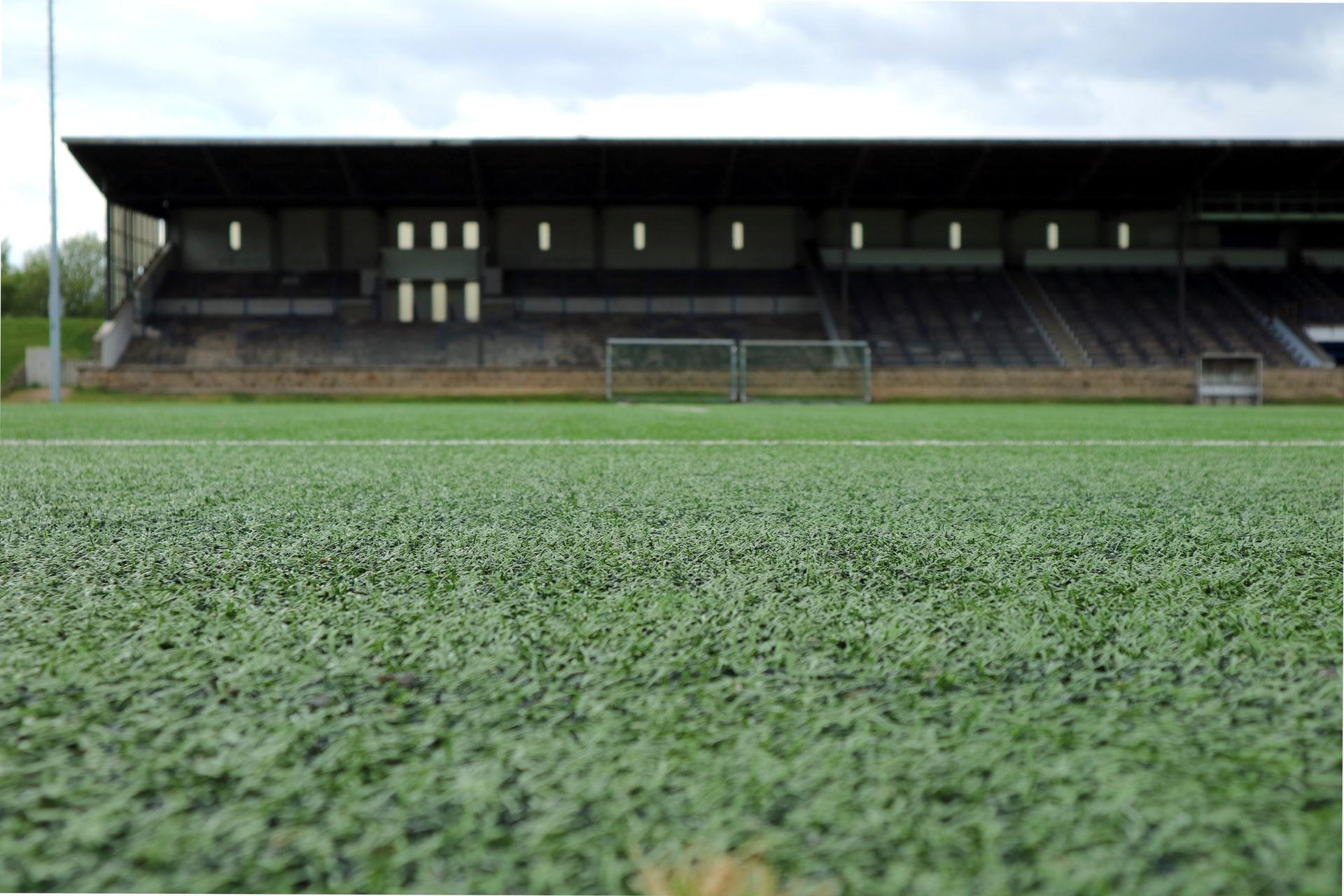 Unoccupied sports field